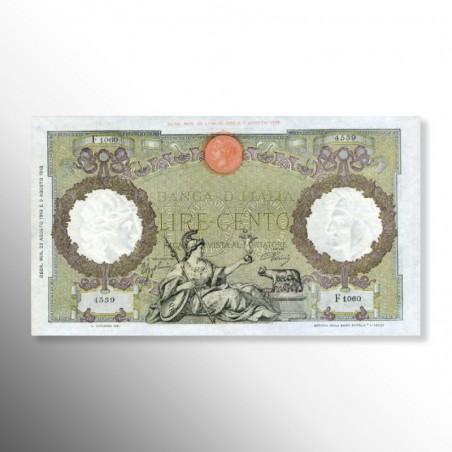 Regno d'Italia | Biglietto di Banca da 100 Lire, Roma Guerriera, 1943
