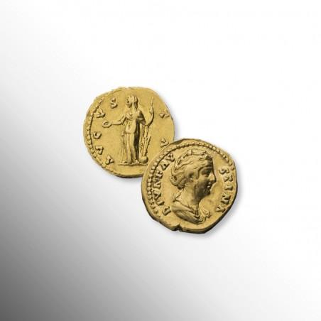 Antica Roma | Aureo di Faustina Maior, 141 d.C.
