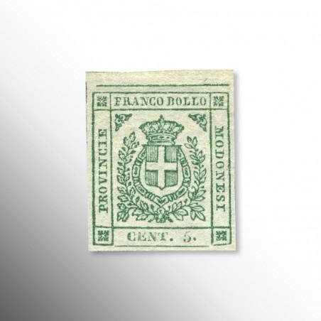 Governi Provvisori | Modena, 5 Centesimi Verde, 1859