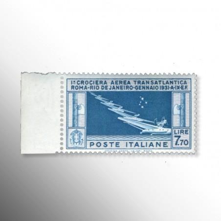 Regno d'Italia   Crociera Transatlantica L 7,70 celeste, 1930