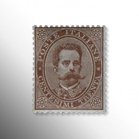 Regno d'Italia   Umberto I Serie 30 c. bruno, 1879