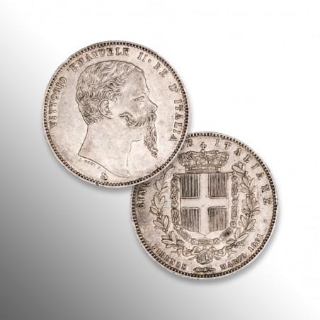 Regno d'Italia | Vittorio Emanuele II, 5 Lire Marzo 1861
