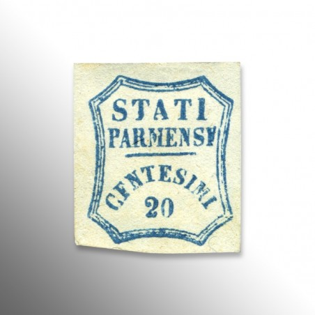 Governi Provvisori   Parma, 20 centesimi azzurro, 1859